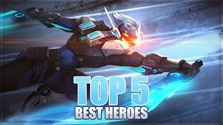 mobile legends top 5 best heroes before claude and vale release