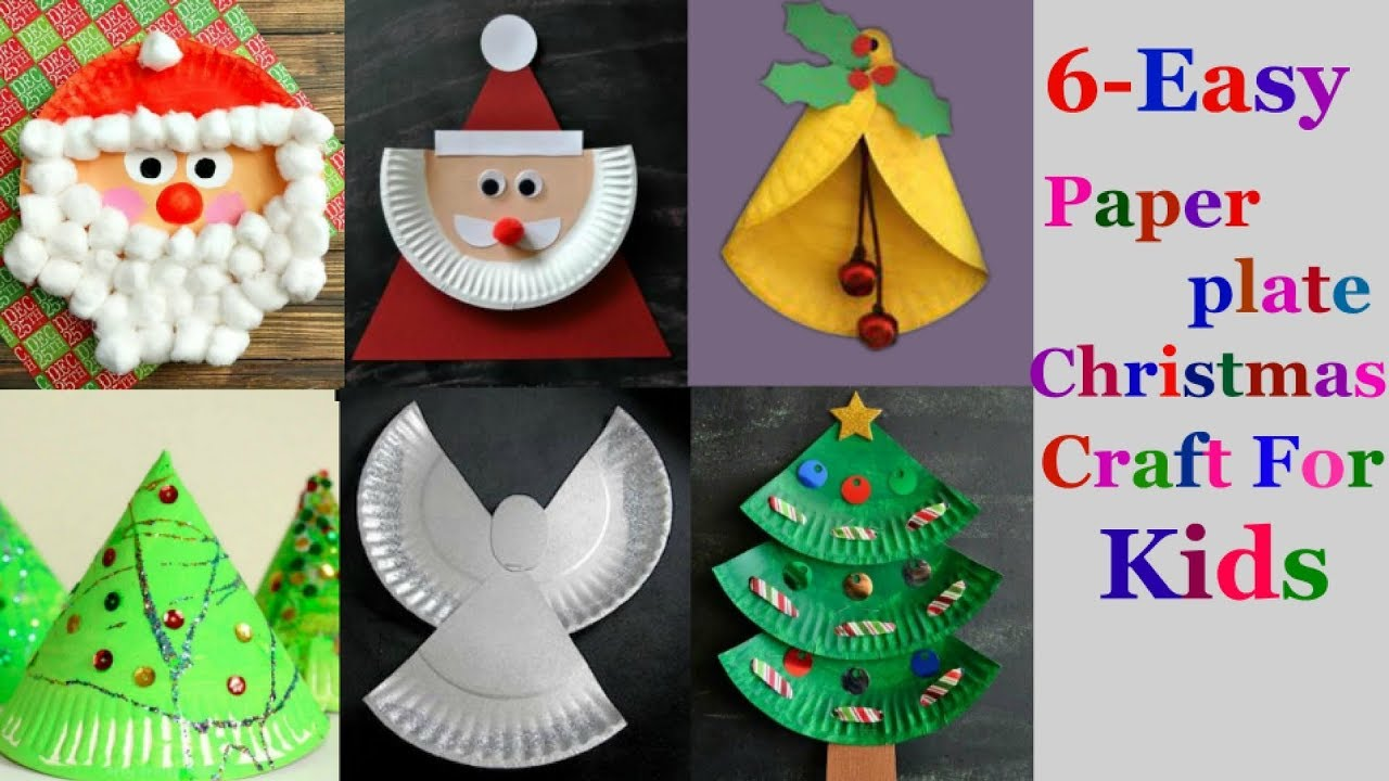 6-Easy paper plate Christmas craft Ideas for kids ( part 1)  sc 1 st  YouTube & 6-Easy paper plate Christmas craft Ideas for kids ( part 1) - YouTube