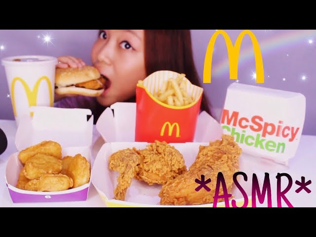 Asmr Mcdonald S Chicken Chicken Nugget Frenchfries Burger Eating Sounds