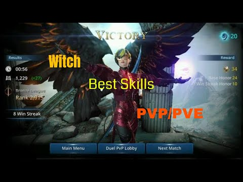 Darkness Rises Witch PvP gameplay & Best Skills for PvE/PvP