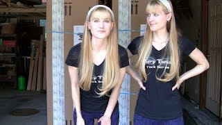 Unboxing! New Electro-Acoustic HARPS – Harp Twins (Camille and Kennerly)