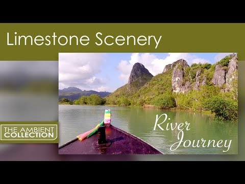 Water Sounds - Relaxing River Virtual Boat Tour in Khao Sam Roi Yot National Park -Thailand