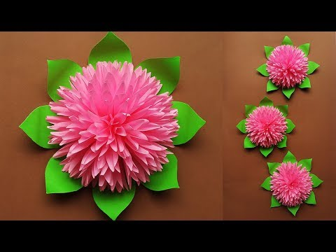 How to Make Beautiful Paper Flower for Home Decor | Paper Flowers Wall Decorations