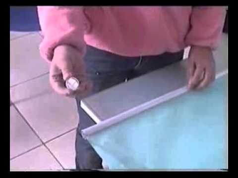 How to install electric roller blinds youtube for How to install motorized blinds