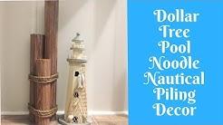 Everyday Crafting: Dollar Tree Pool Noodle Nautical Piling Decor
