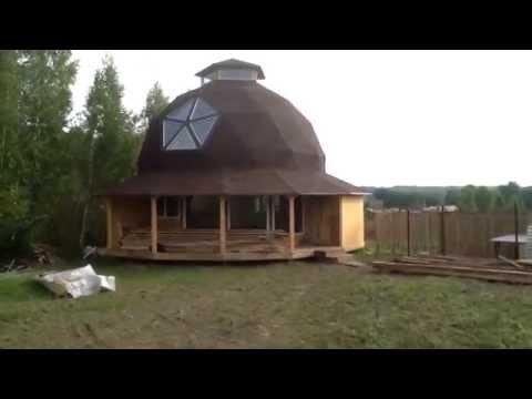 Комбинированный дом - кирпич и клееный брус. Подготовка к монтажу .