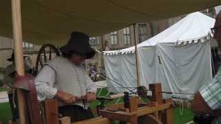 English Civil War Bandolier Powder Box Made On A Joseph Moxon 17th Century Lathe