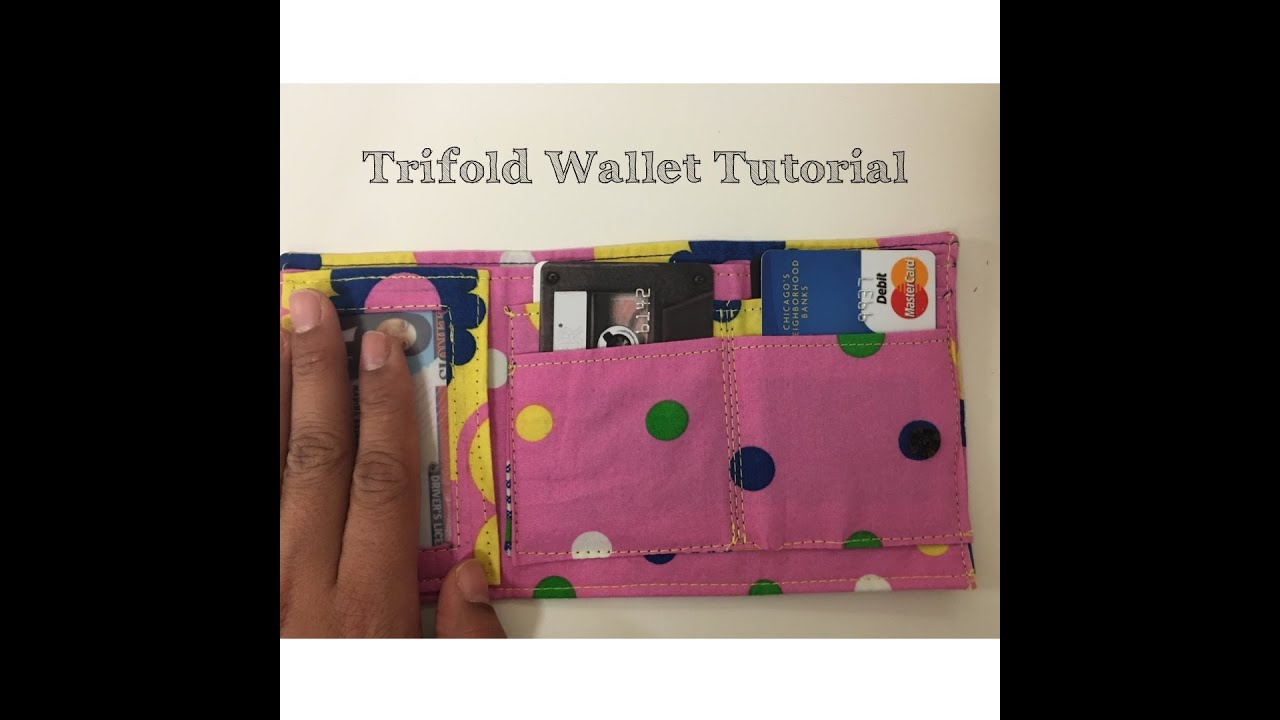 Diy trifold wallet tutorial youtube diy trifold wallet tutorial jeuxipadfo Image collections