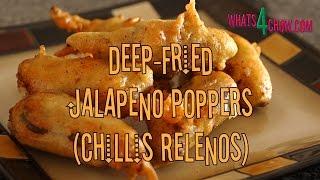 Deep-fried Jalapeño Chilli Poppers - Chillies Rellenos. Stuffed Jalapeños Deep Fried In Batter.
