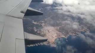 Landing in Girona airport Costa Brava