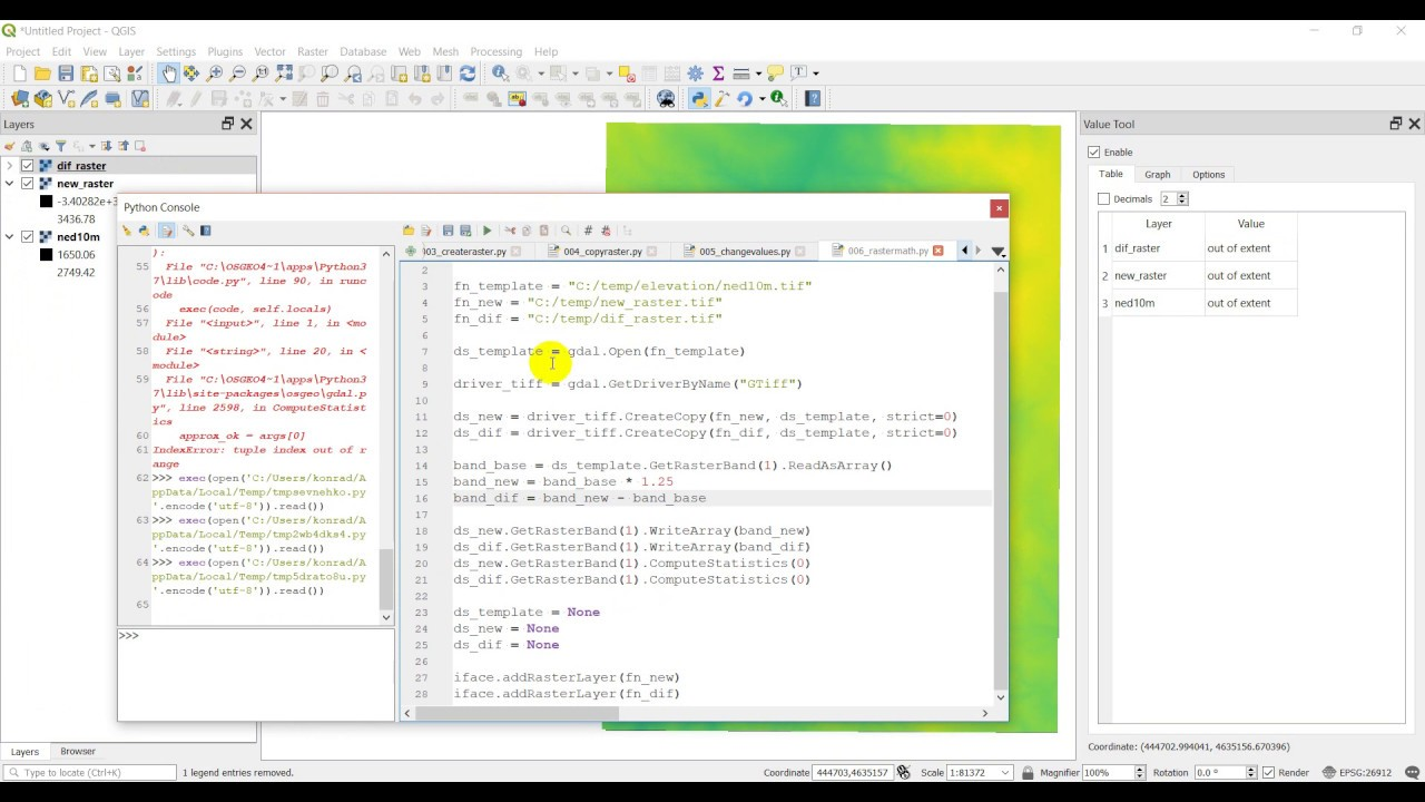 Python GIS - Raster Calculator / Map Algebra (GDAL)