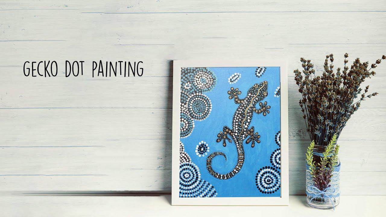 Gecko Dot Painting Tribal Art Dotting Youtube