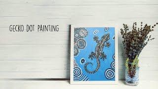 Gecko Dot Painting    Tribal Art    Dotting