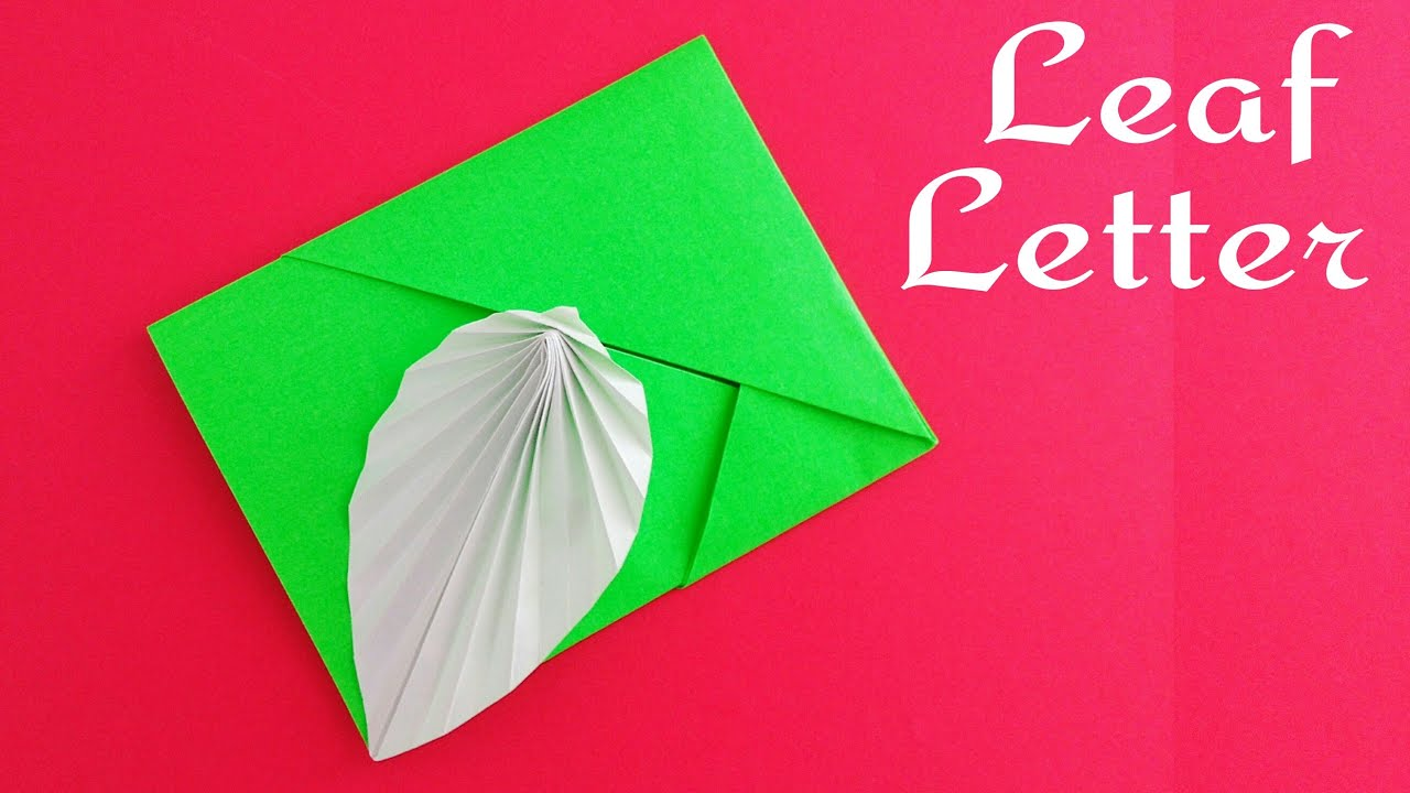 Useful Origami Paper Leaf Card Envelope Letter A4 Sheetno