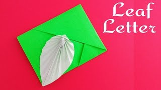 Leaf Card / Envelope / Letter (No Glue or Tape) - DIY Tutorial by Paper Folds.