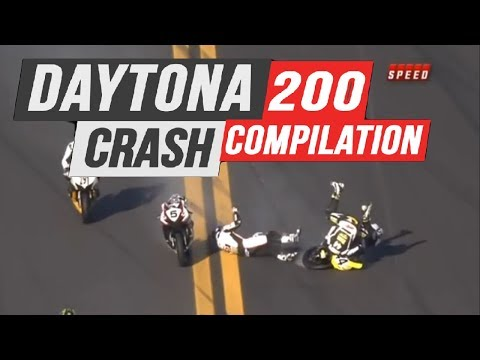 Daytona 200 Crash Compilation | Daytona International Speedway
