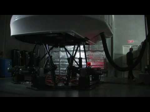 6 dof flight simulator motion base simulation running real