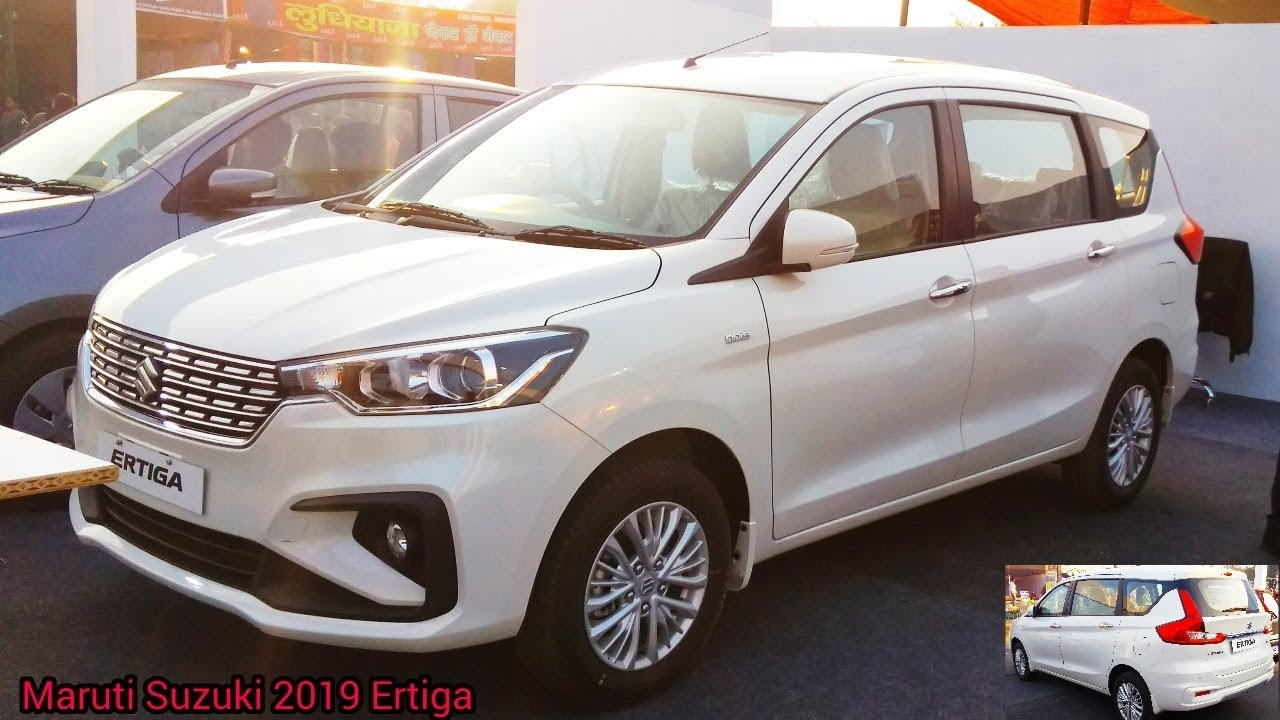 Maruti Suzuki 2019 Ertiga White Colour Real Life Review Detailed Walkaround
