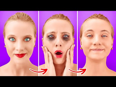 TOTALLY WEIRD GIRLY HACKS THAT WORK MAGIC || Crazy Beauty Tips And Tricks By 123 GO Like!
