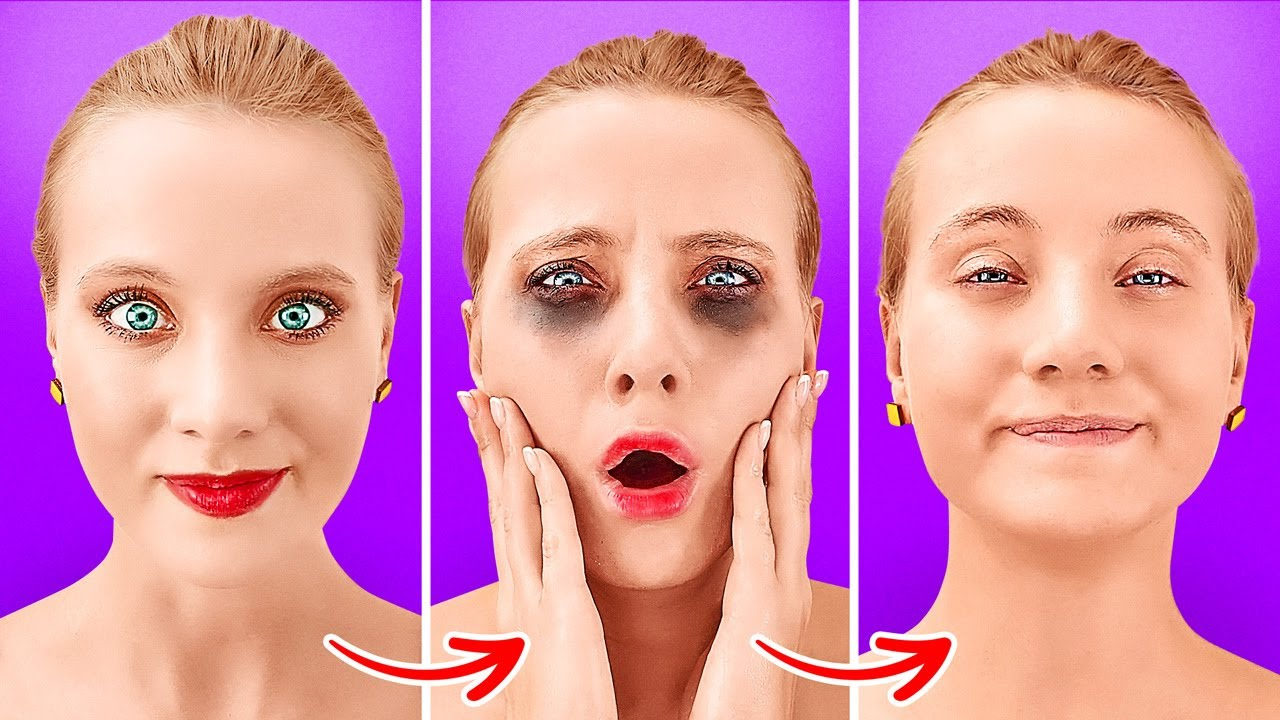 TOTALLY WEIRD GIRLY HACKS THAT WORK MAGIC    Crazy Beauty Tips And Tricks By 123 GO Like!