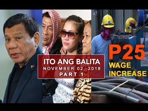 UNTV: Ito Ang Balita (November 2, 2018) PART 1