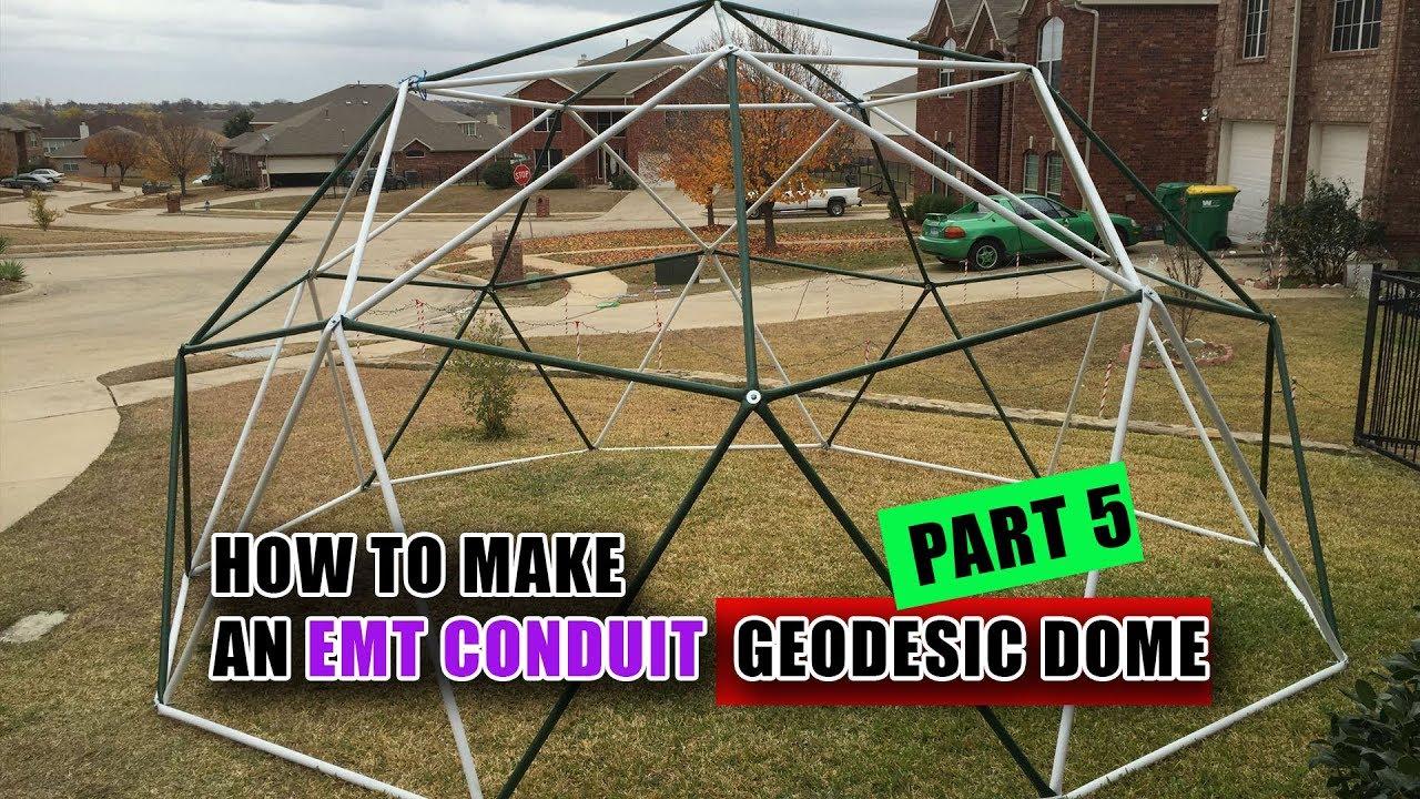 how to make an emt conduit geodesic dome v youtube. Black Bedroom Furniture Sets. Home Design Ideas