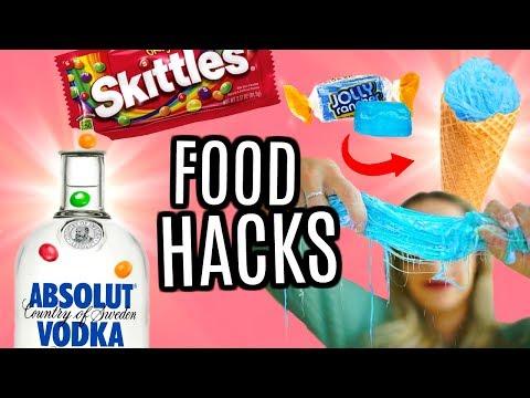 JE TESTE DES FOOD HACKS AVEC DES BONBONS