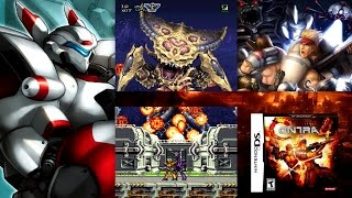 Contra 4 2 Player co-op - No death run - Normal Difficulty