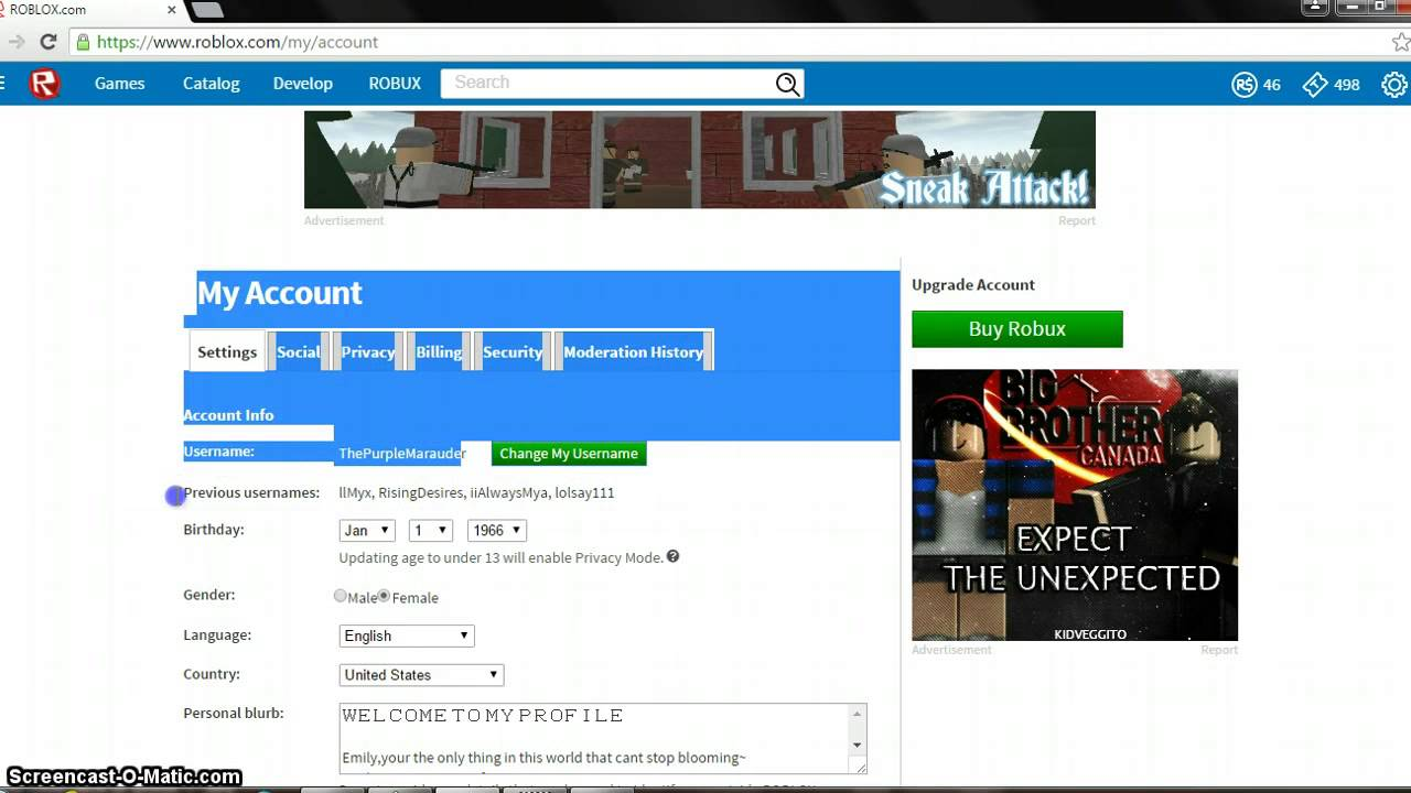 How To Change Your Username On Roblox Youtube