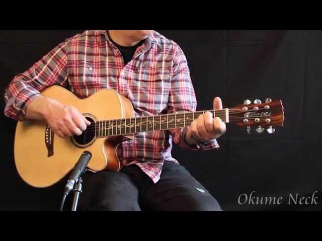Cassidy CA511C TK at the musicradar.com Acoustic Guitar Expo 2014