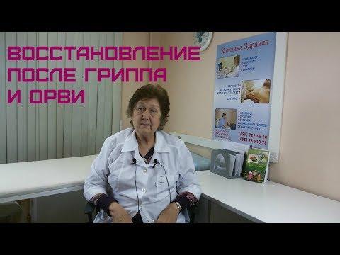 Восстановление после гриппа и ОРВИ. Советы врача Коршиковой Ю.И.