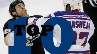 Top Ten NHL Hockey Fights of Donald Brashear