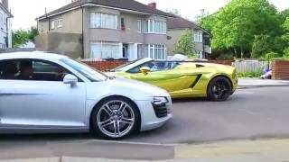 20 Year Old Millionaire Day Trader Driving Gold Lamborghini