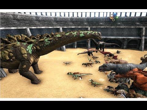 Titanosaur vs ALL OTHER CREATURES in ARK || ARK: Survival Evolved || Cantex
