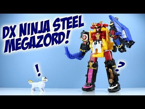 Saban's Power Rangers DX Ninja Steel Megazord Ban Dai Opening