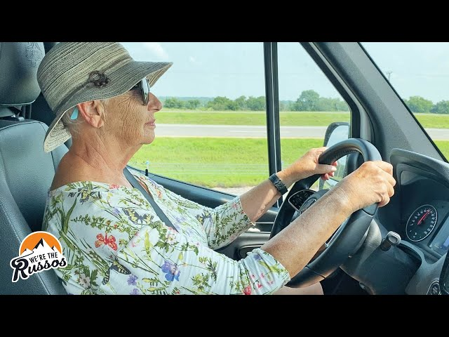 76 Year Old First Time Driving an RV | Summer with Mom Van Life Road Trip Episode 5