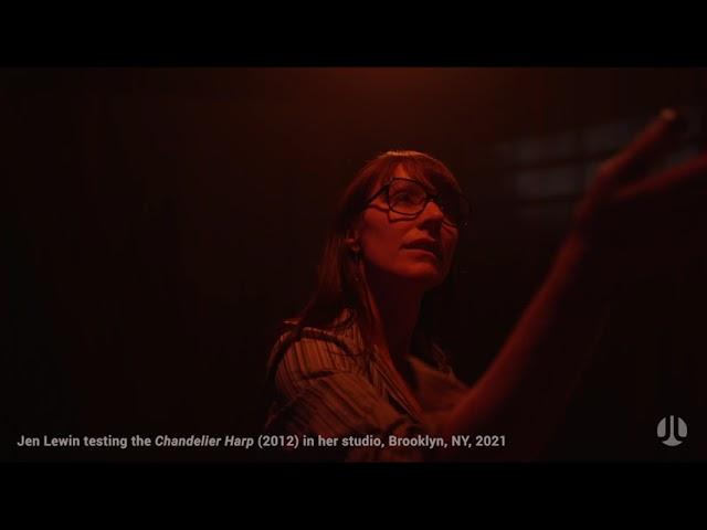 Lewin, Testing The Chandelier Harp (2012), Brooklyn NYC 2021