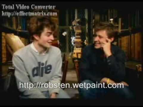 Adorable Robert Pattinson On Harry Potter Goblet Of Fire Set