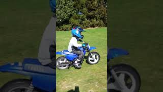 Carter pw50 motorbike 4 years old
