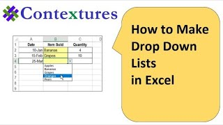 Drop Down List in Excel