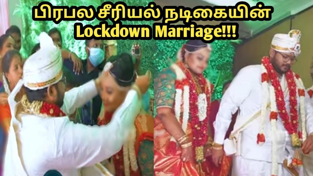 Lockdown marriage of vijay tv famous serial actress   news  