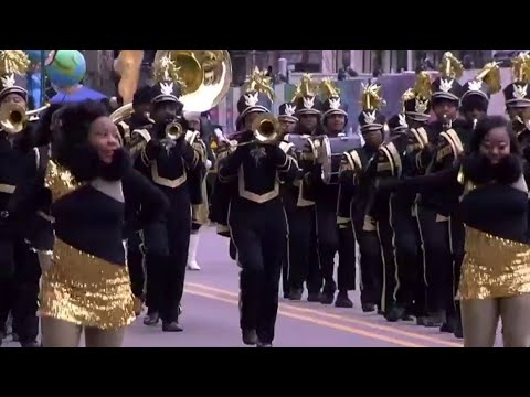 Martin Luther King, Jr. High School marching band performs at annual parade
