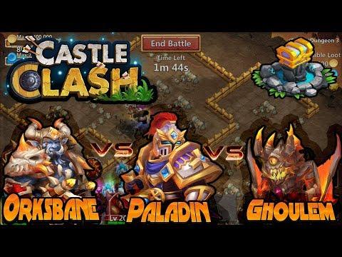 |CASTLE CLASH| Ghoulem VS Paladin VS Orksbane
