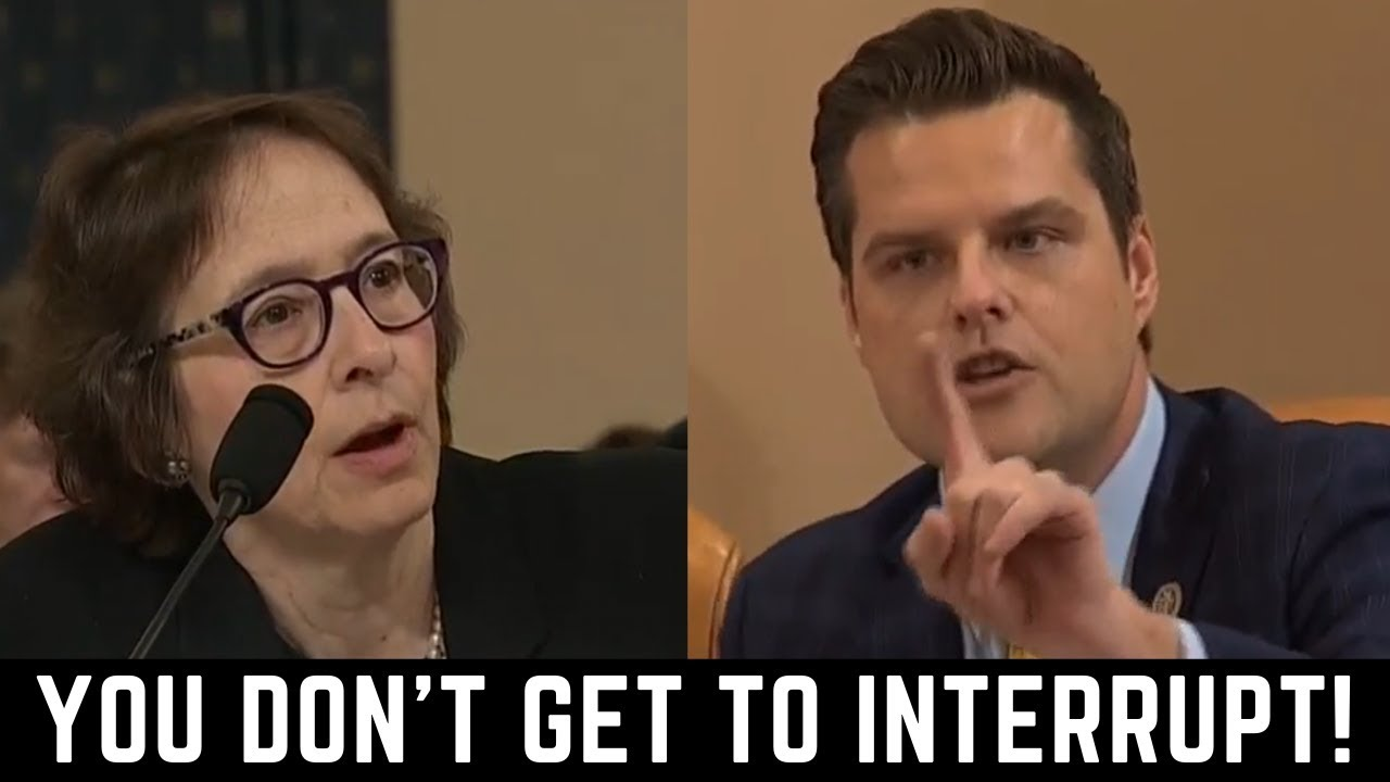 Full Exchange: Gaetz Rips Dem Witnesses in Impeachment Hearing