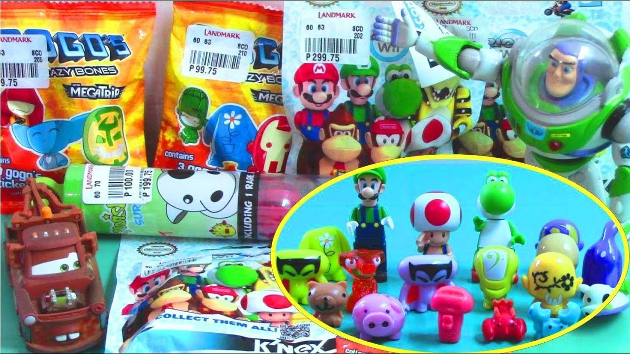 Surprise Toys: Mario Bros Mario Kart Wii Gogos Surprise Bags Toy Story 3 Cars 2 Mater
