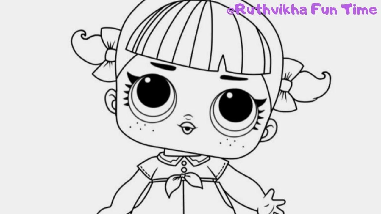 lol surprise doll 👧 coloring for kids || line dancer