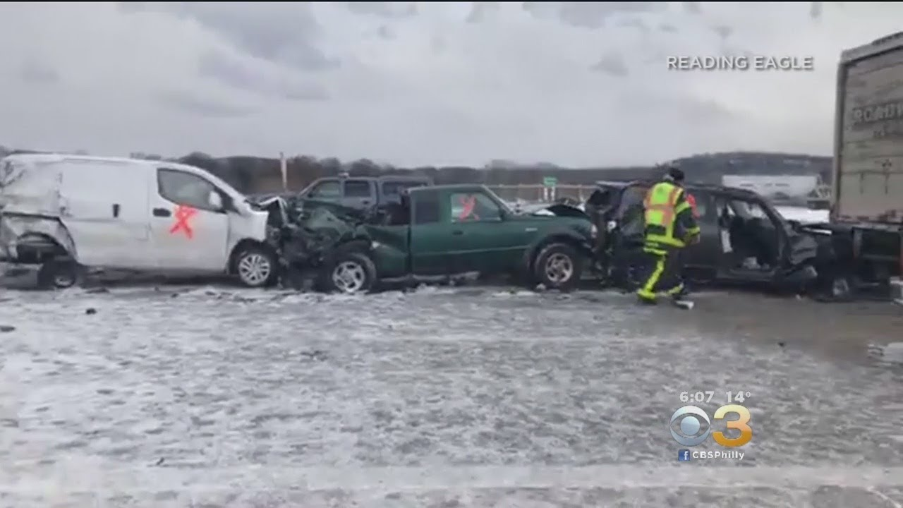 Snow squall causes massive pileups in New York, Pennsylvania