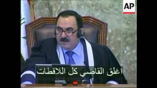 Saddam Hussein's trial on Operation Anfal charges, plus new bites