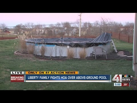 Liberty family fights HOA over above-ground pool