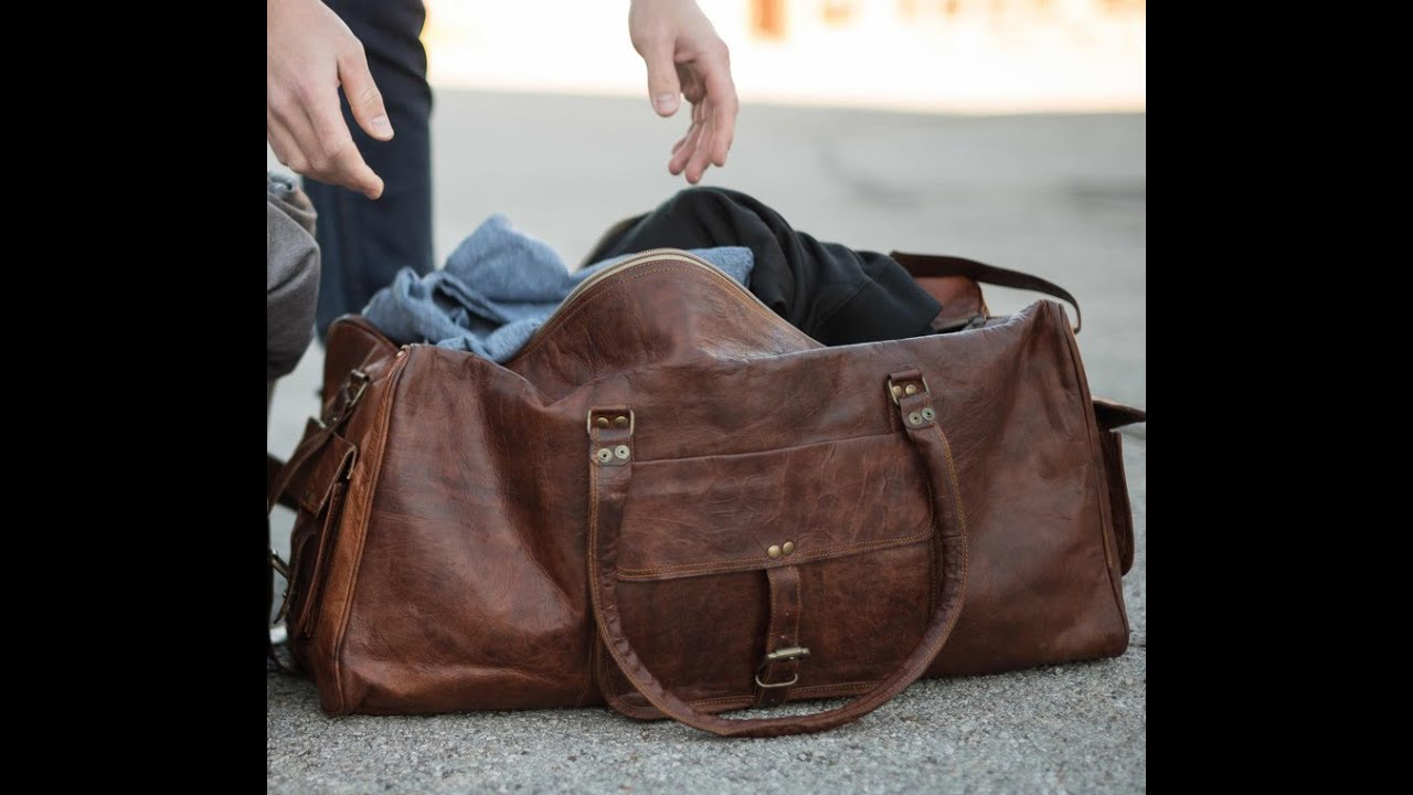 Rustic Leather Duffel Bags For Men S High On
